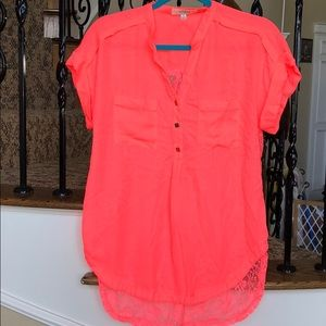 Size Medium Umgee Brand Neon Pink/Orange top